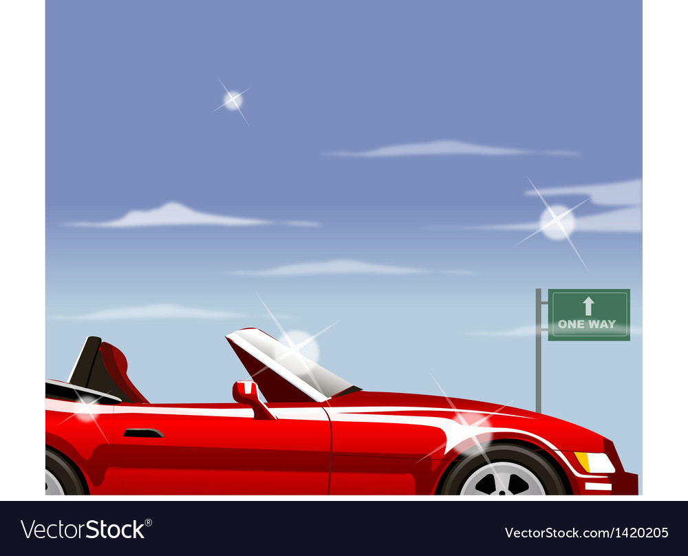 Highway convertible vector | Price: 1 Credit (USD $1)