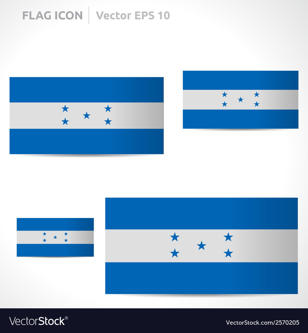 Honduras flag template vector | Price: 1 Credit (USD $1)
