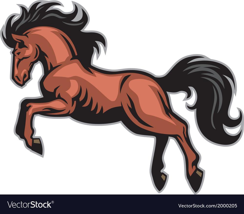Horse run mascot vector | Price: 1 Credit (USD $1)