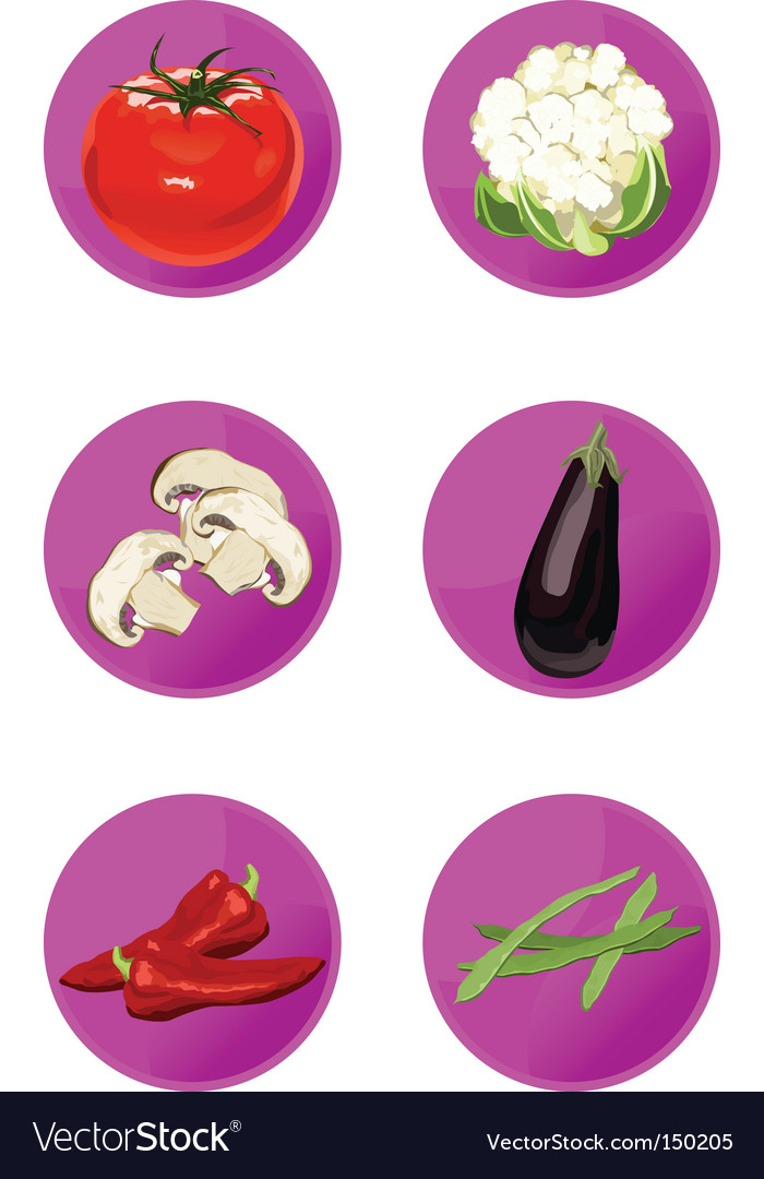 Icons veggies vector | Price: 1 Credit (USD $1)