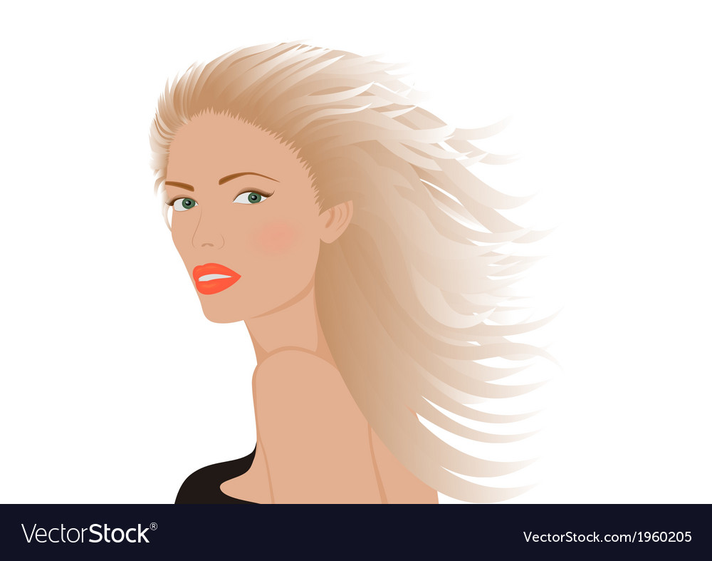 Portrait of blonde woman vector | Price: 1 Credit (USD $1)