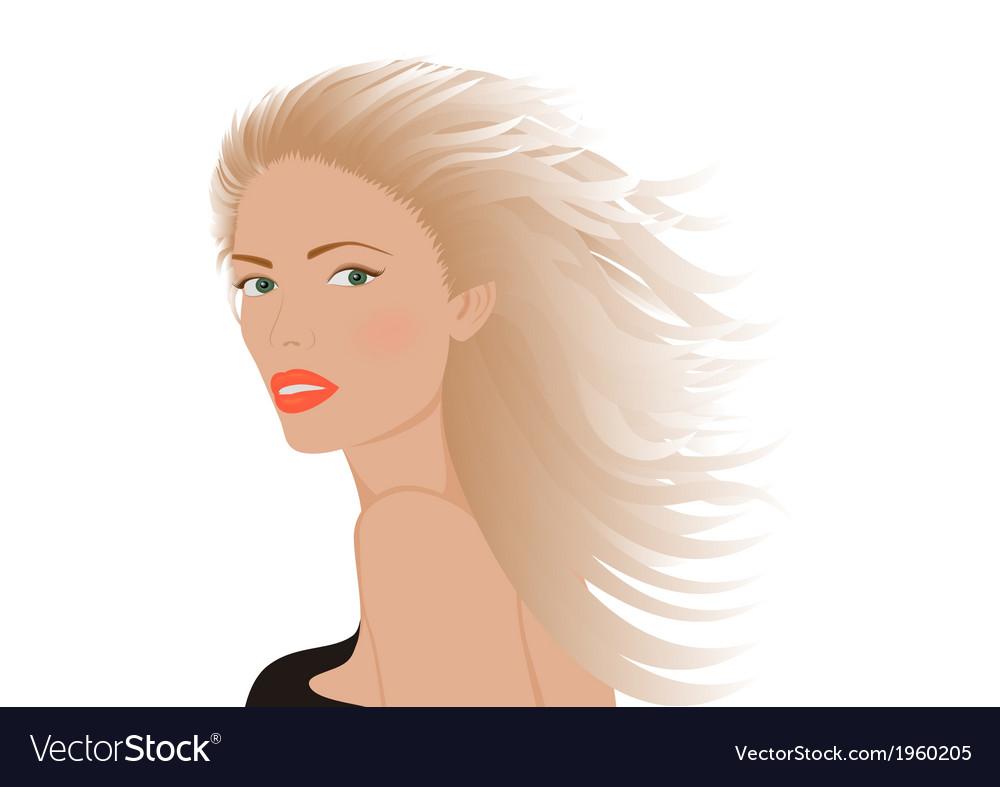 Portrait of blonde woman vector   Price: 1 Credit (USD $1)