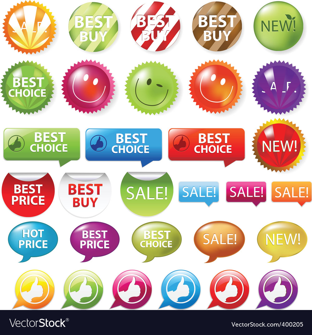 Retail badges vector | Price: 1 Credit (USD $1)