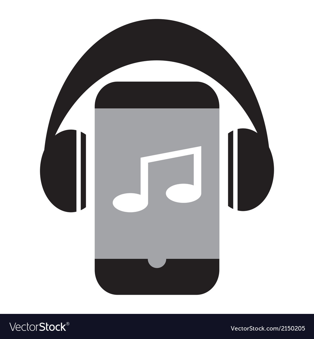 Smart phone music vector | Price: 1 Credit (USD $1)