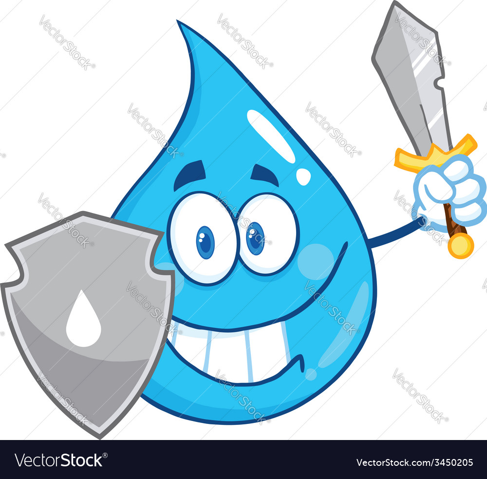 Waterdrop cartoon vector | Price: 1 Credit (USD $1)
