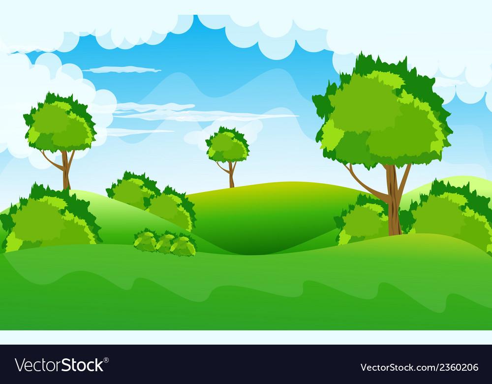Beautiful landscape background vector | Price: 1 Credit (USD $1)