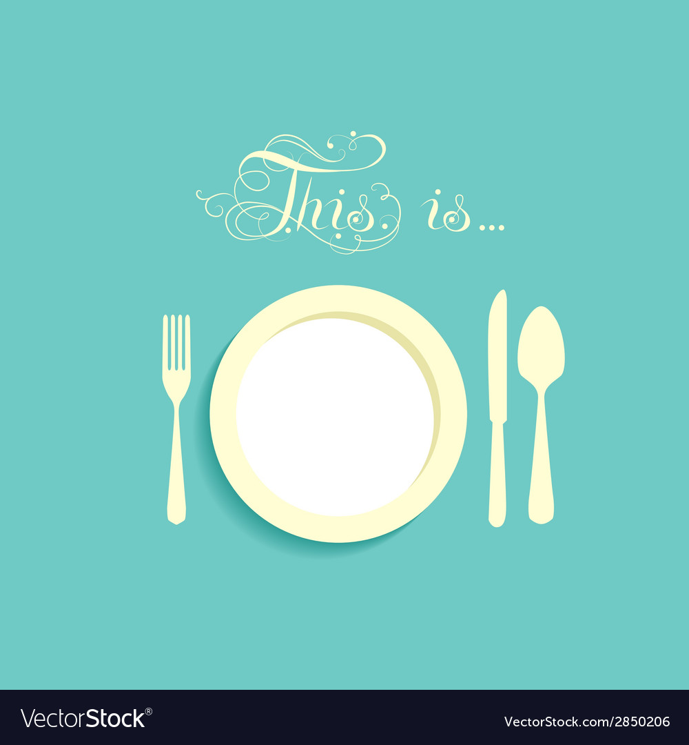Empty plate with no food vector | Price: 1 Credit (USD $1)
