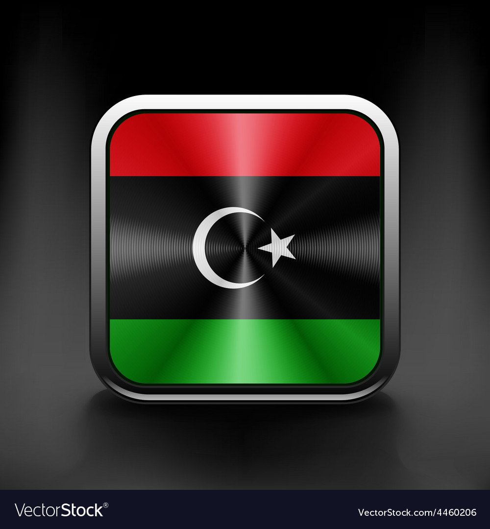 Flag of libya icon world country symbol vector | Price: 1 Credit (USD $1)