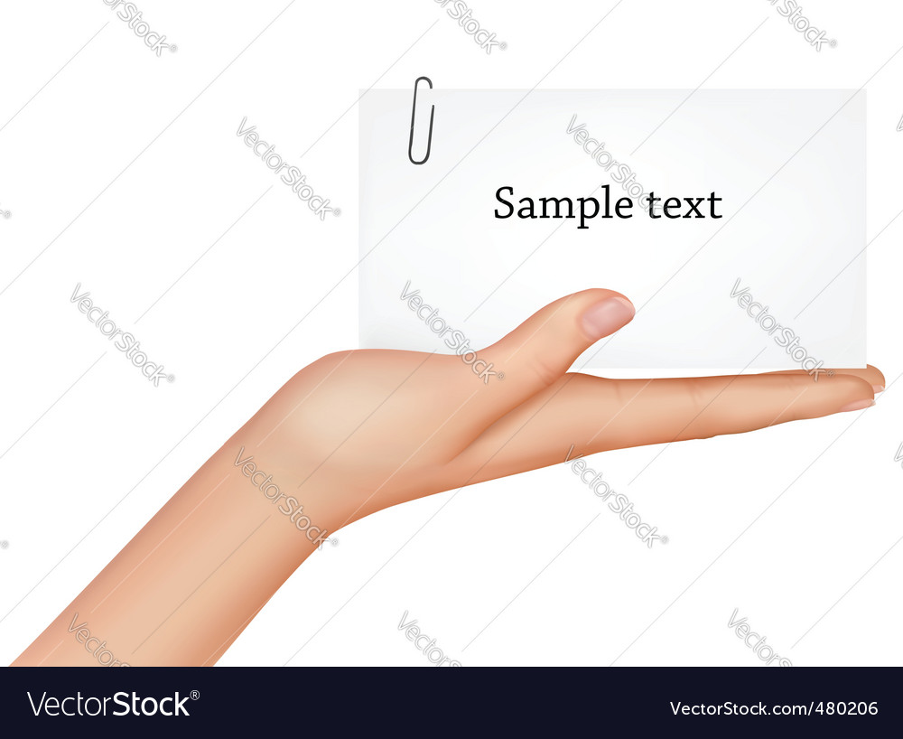 Hand and card vector | Price: 3 Credit (USD $3)