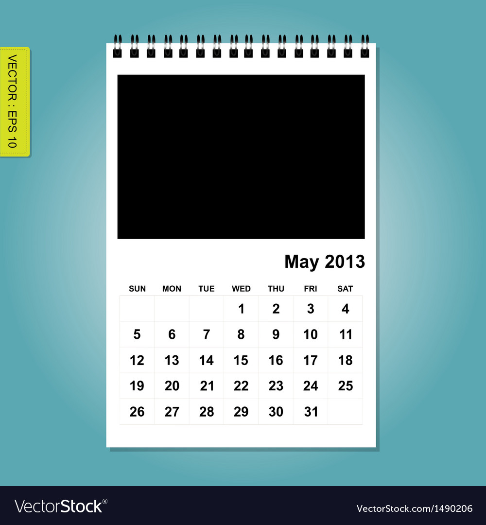 May 2013 calendar vector | Price: 1 Credit (USD $1)