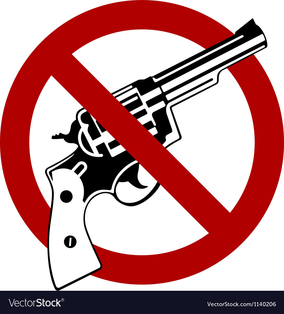 No guns allowed vector | Price: 1 Credit (USD $1)