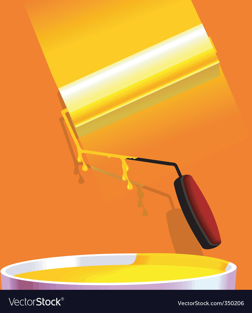 Paint roller vector | Price: 1 Credit (USD $1)