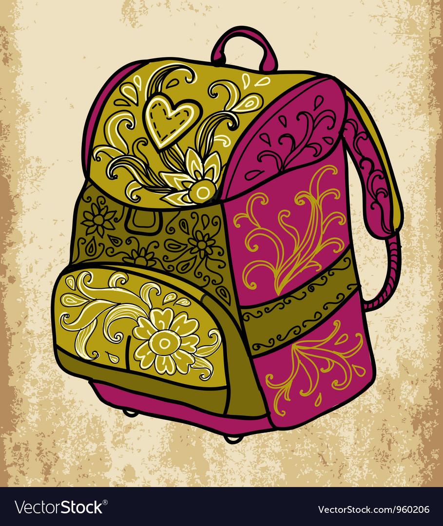 School backpack vector | Price: 1 Credit (USD $1)
