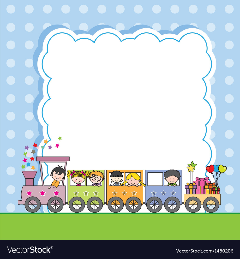 Train with children vector | Price: 3 Credit (USD $3)