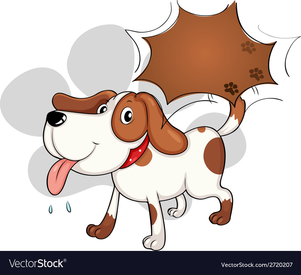 A cute dog panting vector | Price: 1 Credit (USD $1)