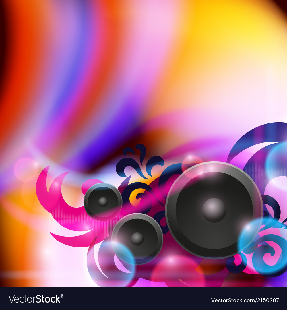 Abstract music background with speakers vector | Price: 1 Credit (USD $1)