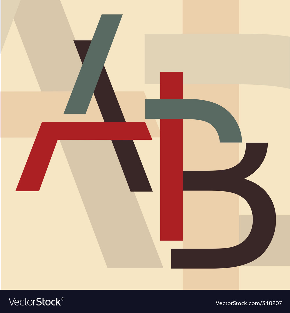 Alphabet a b vector | Price: 1 Credit (USD $1)