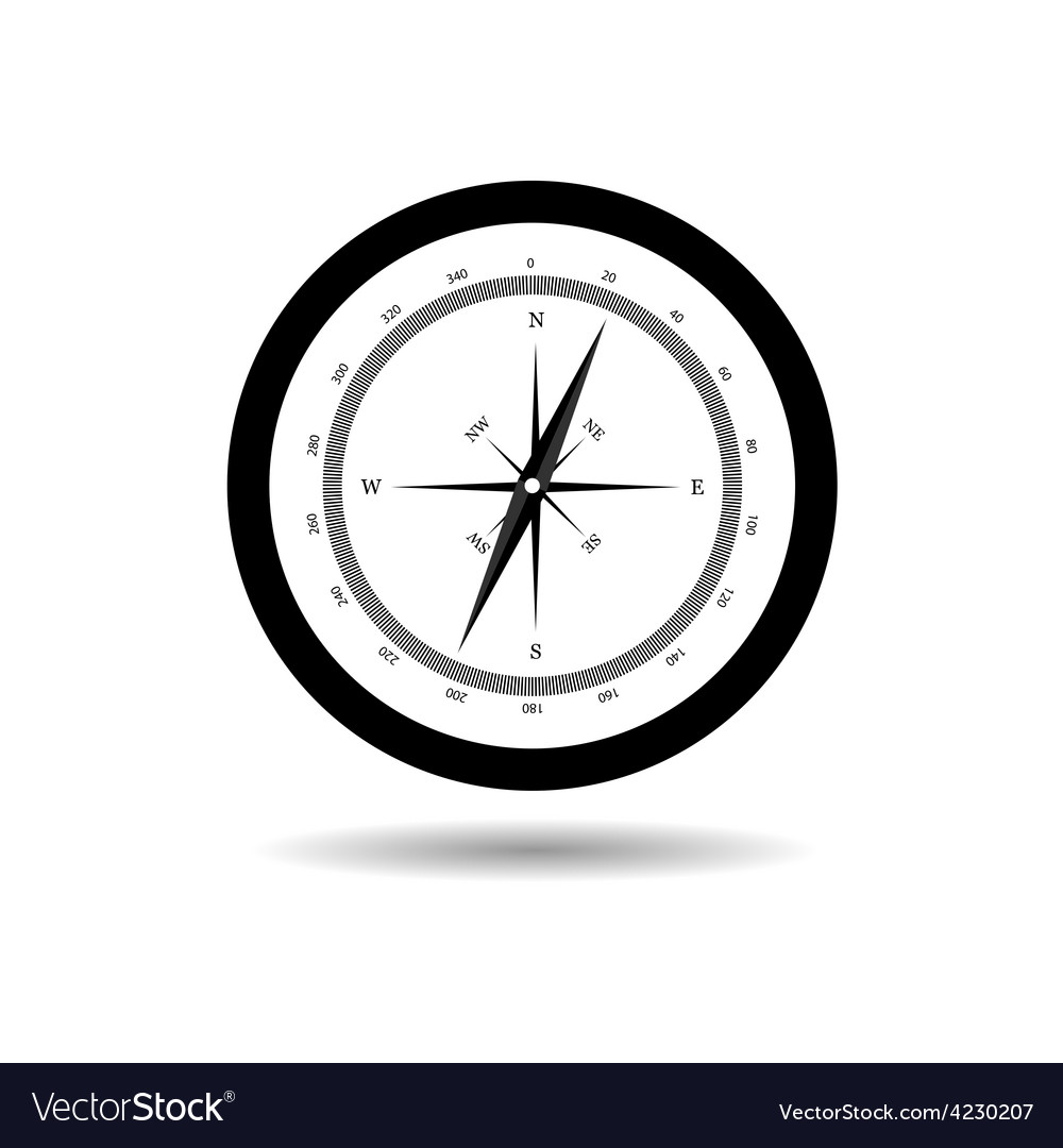 Compass black vector | Price: 1 Credit (USD $1)