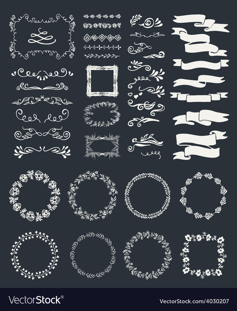 Hand-drawn elements vector | Price: 1 Credit (USD $1)
