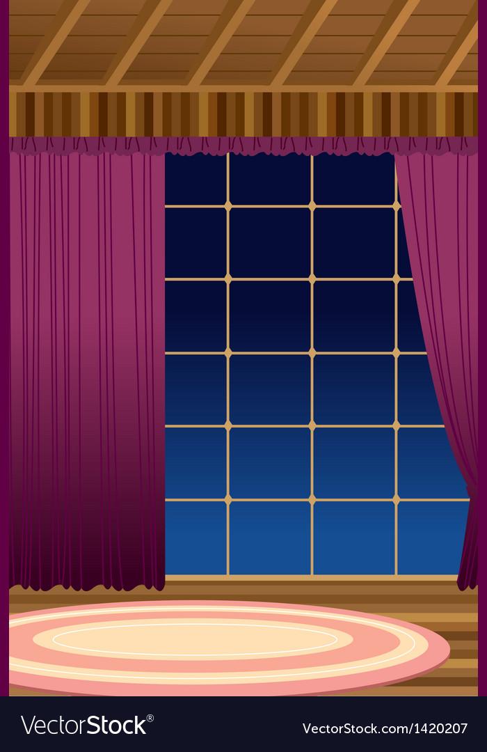 Home interior window vector | Price: 1 Credit (USD $1)