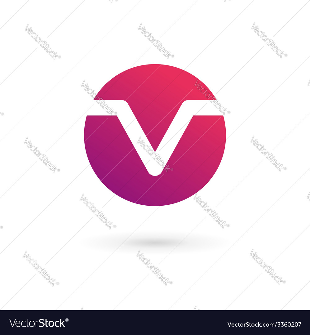 Letter v logo icon design template elements vector | Price: 1 Credit (USD $1)