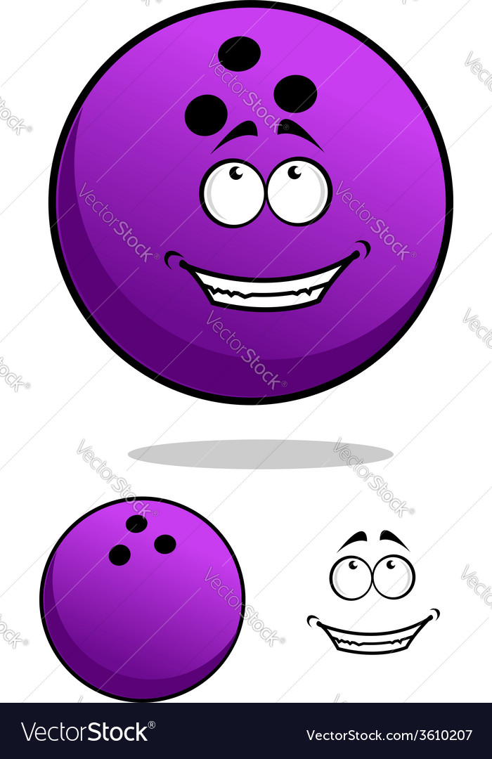 Lucky cartooned bowling ball vector | Price: 1 Credit (USD $1)