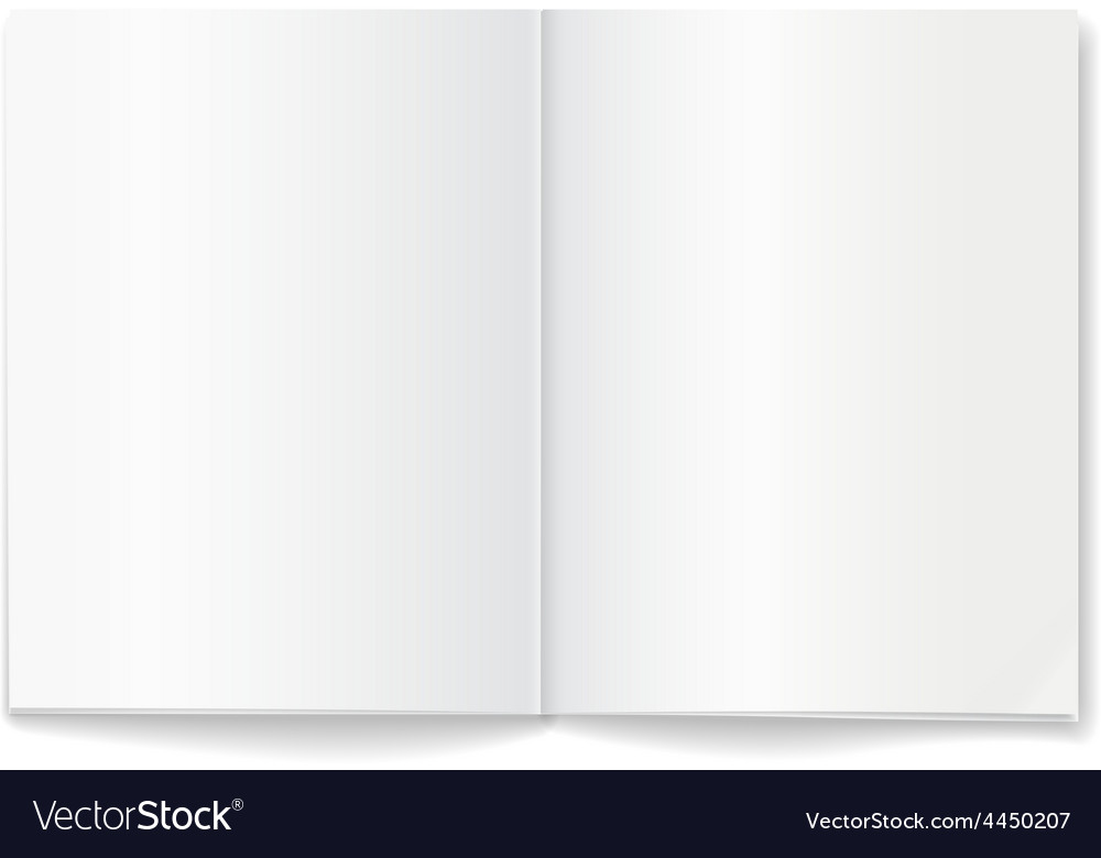 Open blank magazine double-page spread vector | Price: 1 Credit (USD $1)