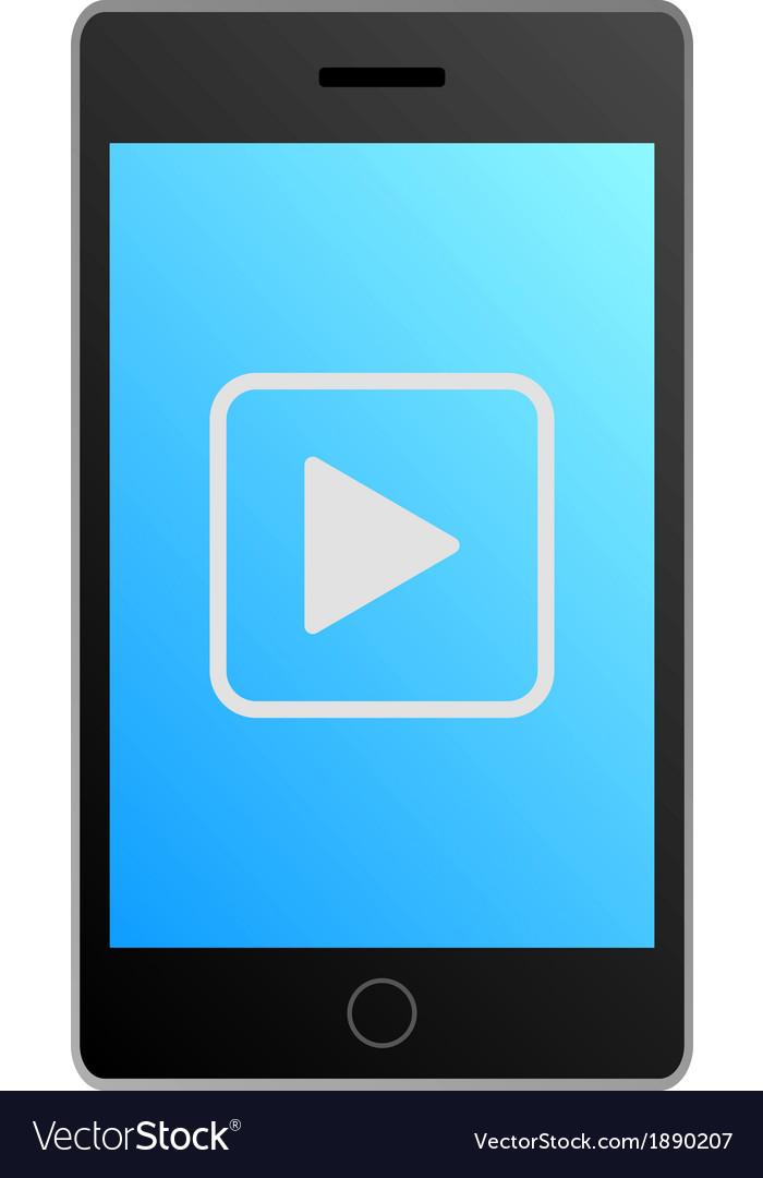 Smartphone video vector | Price: 1 Credit (USD $1)
