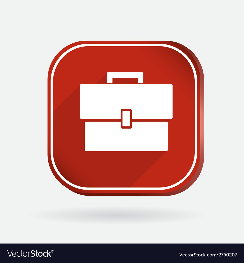 Square icon briefcase vector | Price: 1 Credit (USD $1)