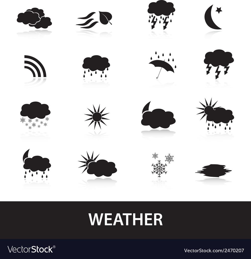 Weather symbols eps10 vector | Price: 1 Credit (USD $1)