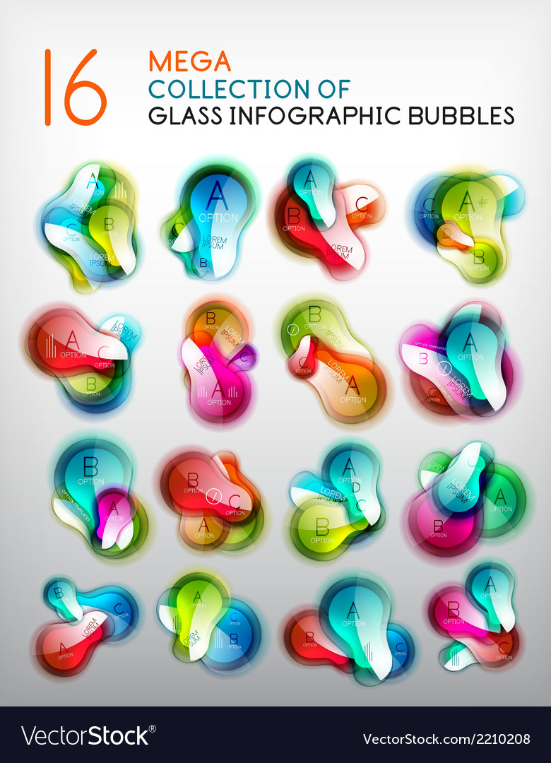 Abstract speech bubble infographics set vector | Price: 1 Credit (USD $1)
