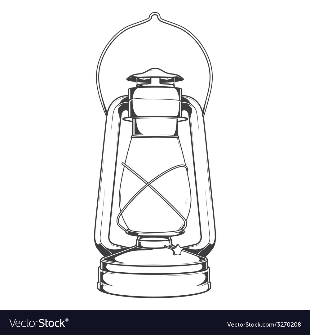 Antique old kerosene lamp vector | Price: 1 Credit (USD $1)