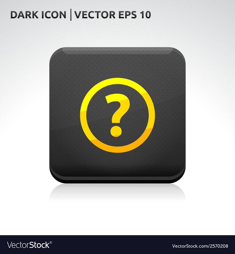 Ask question icon gold vector | Price: 1 Credit (USD $1)