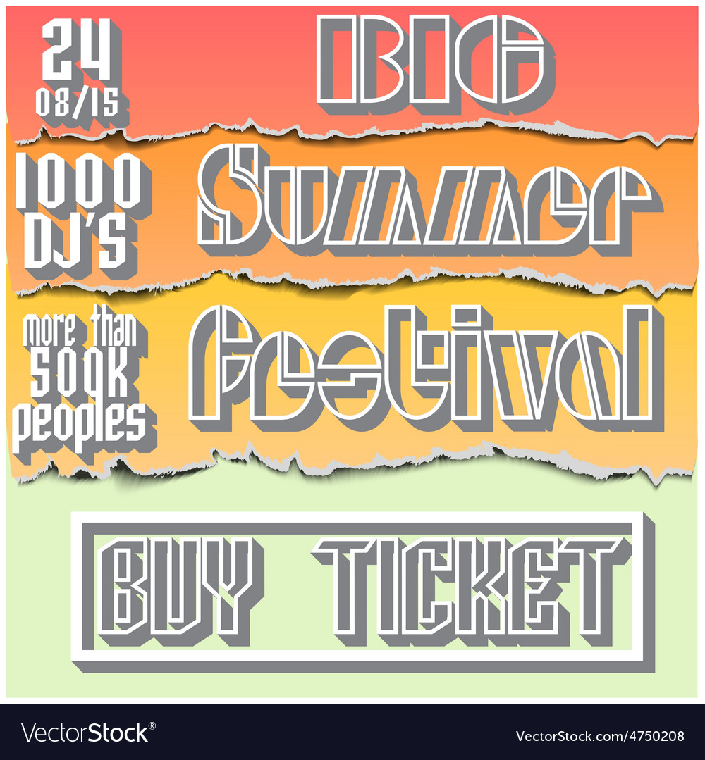 Brochure flyerposter for summer festival vector | Price: 1 Credit (USD $1)