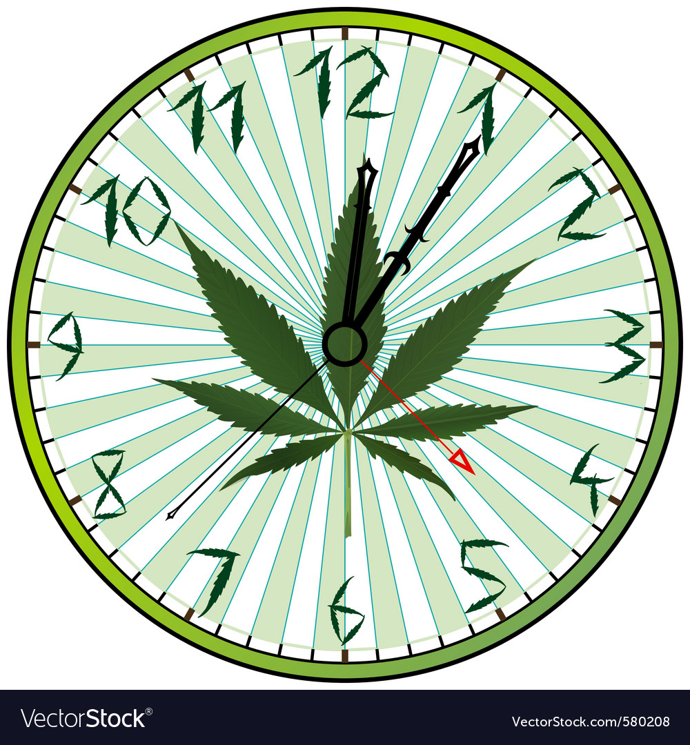 Cannabis clock vector | Price: 1 Credit (USD $1)