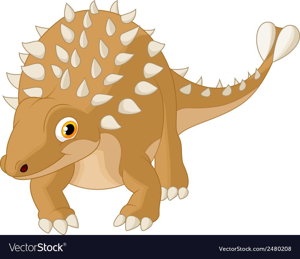 Cute ankylosaurus cartoon vector   Price: 1 Credit (USD $1)