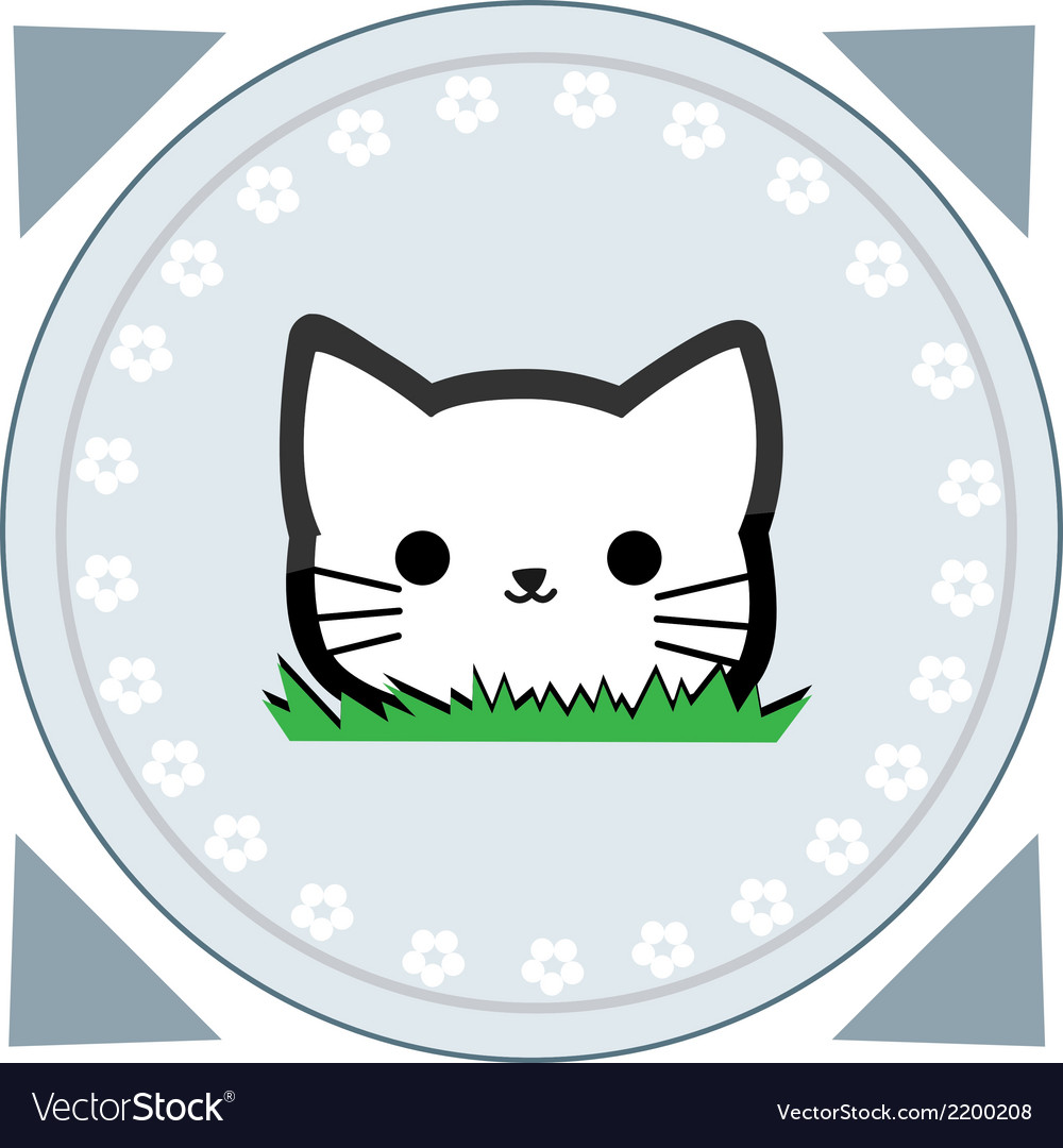 Cute little cat vector | Price: 1 Credit (USD $1)