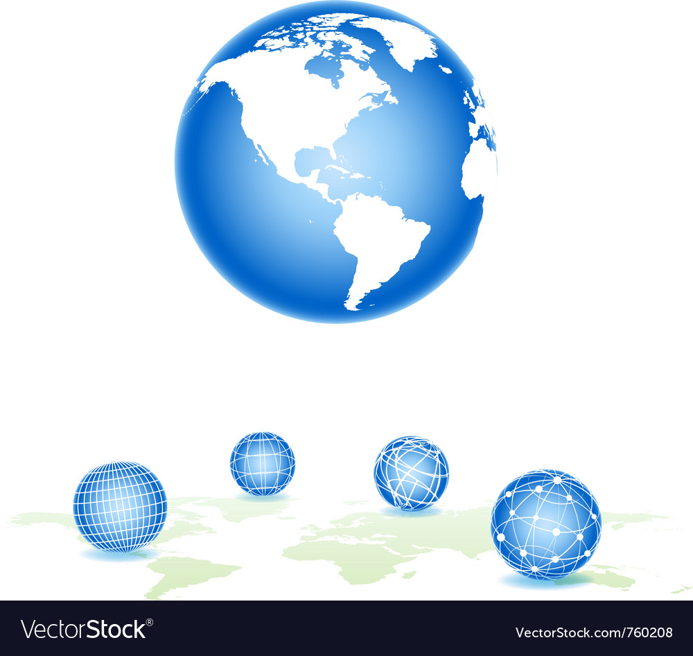 Global spheres vector | Price: 1 Credit (USD $1)
