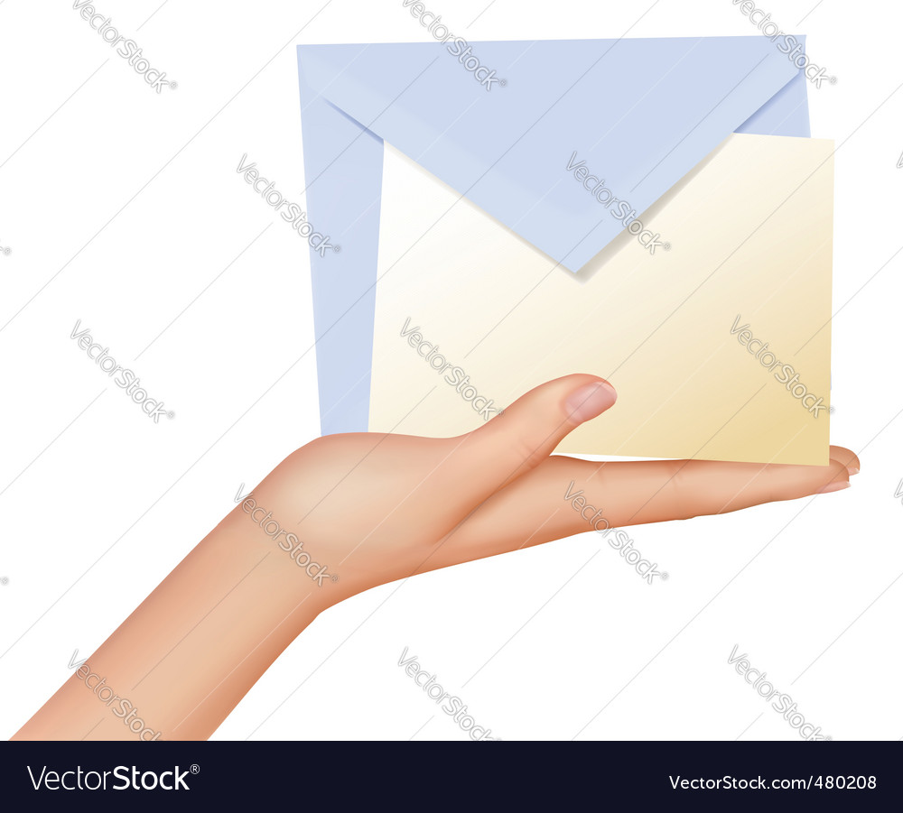 Hand and mail vector | Price: 3 Credit (USD $3)