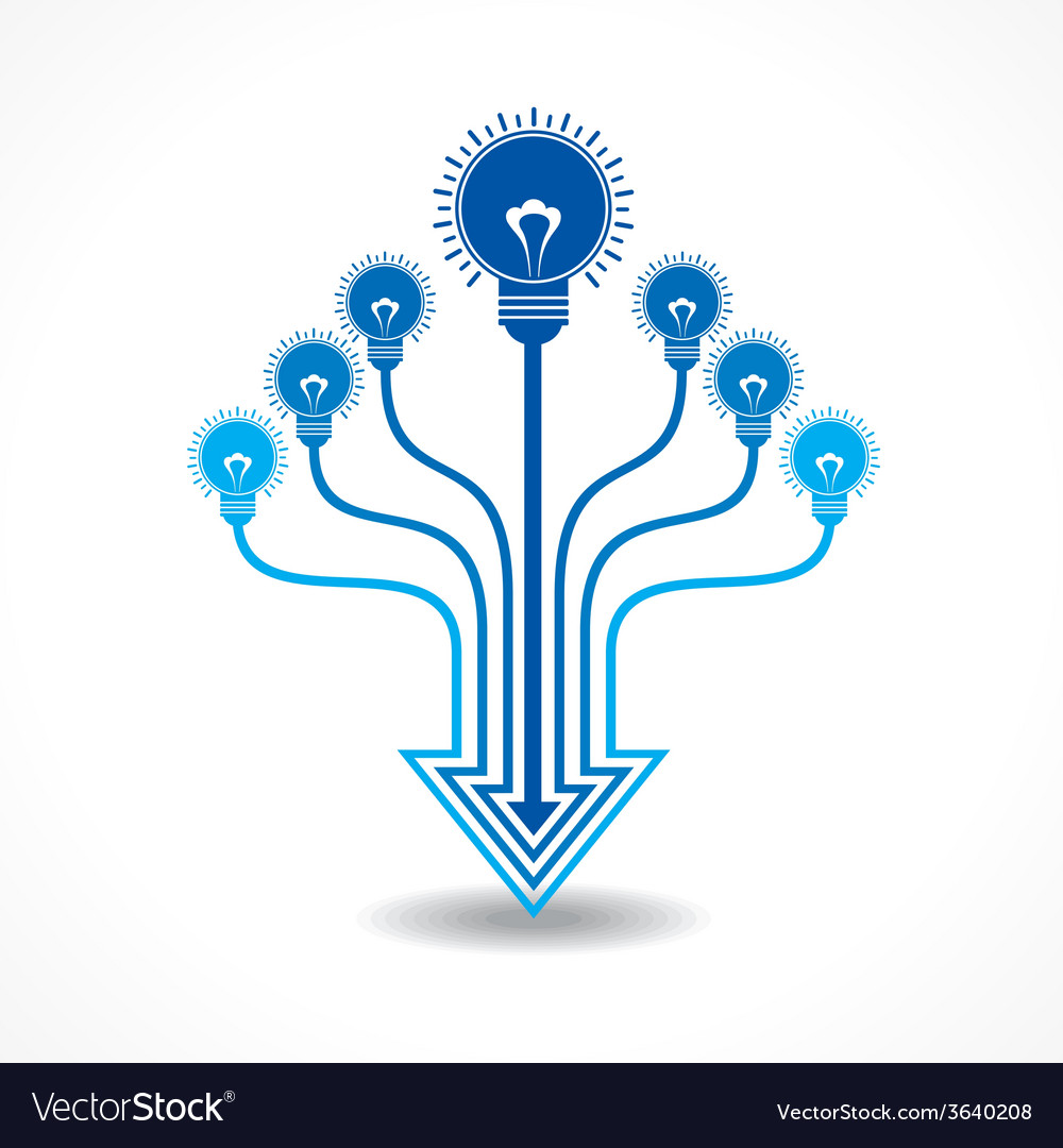 Light-bulb make arrow design vector   Price: 1 Credit (USD $1)