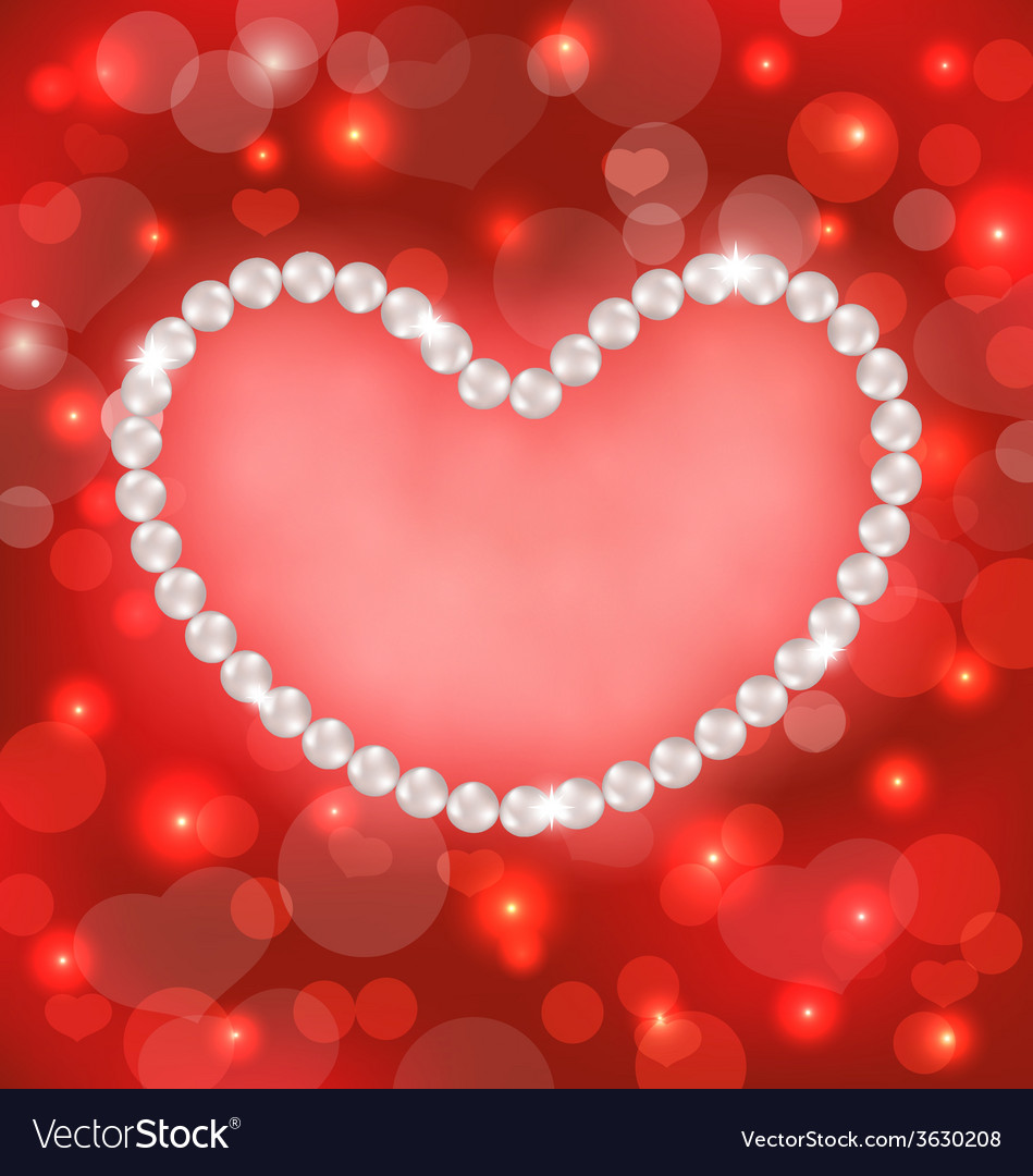 Lighten background with heart made in pearls for vector | Price: 1 Credit (USD $1)