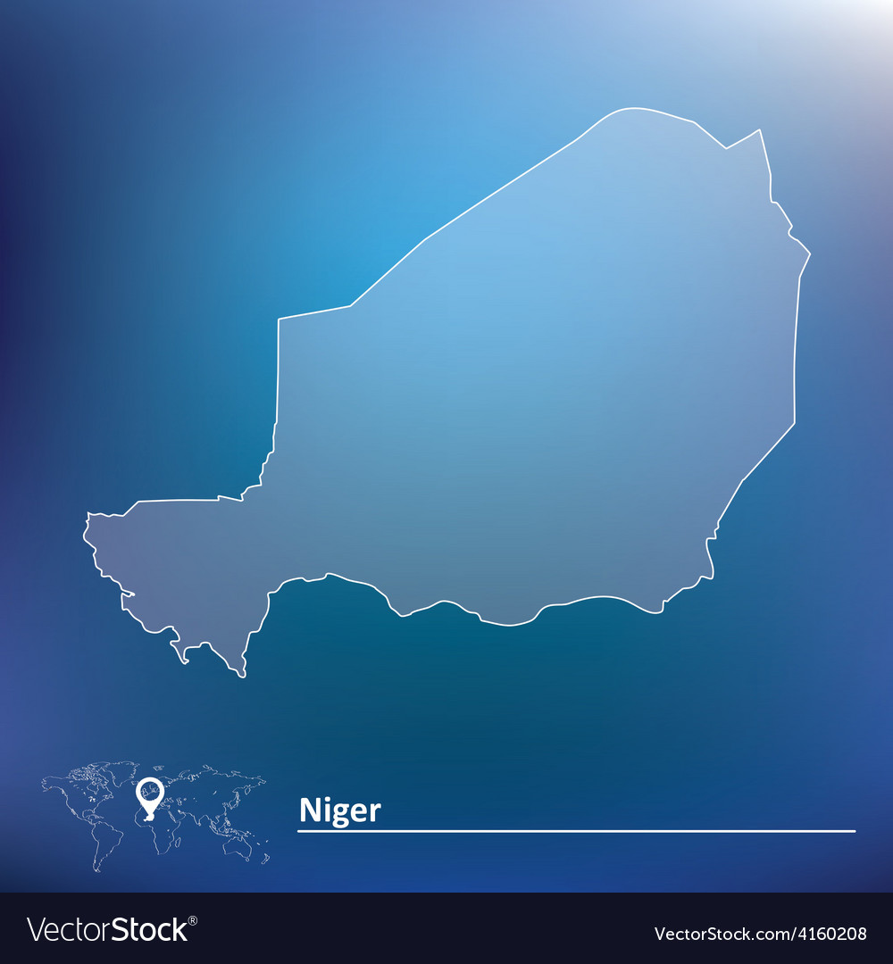 Map of niger vector | Price: 1 Credit (USD $1)