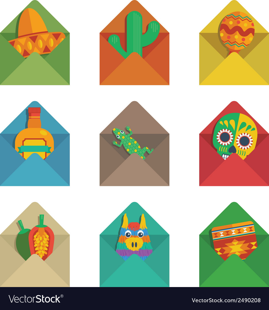 Mexican envelopes vector | Price: 1 Credit (USD $1)