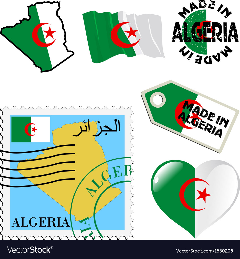 National colours of algeria vector   Price: 1 Credit (USD $1)