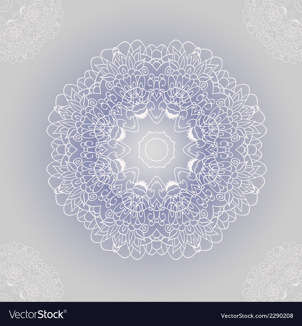Ornamental round lace with damask and arabesque vector | Price: 1 Credit (USD $1)