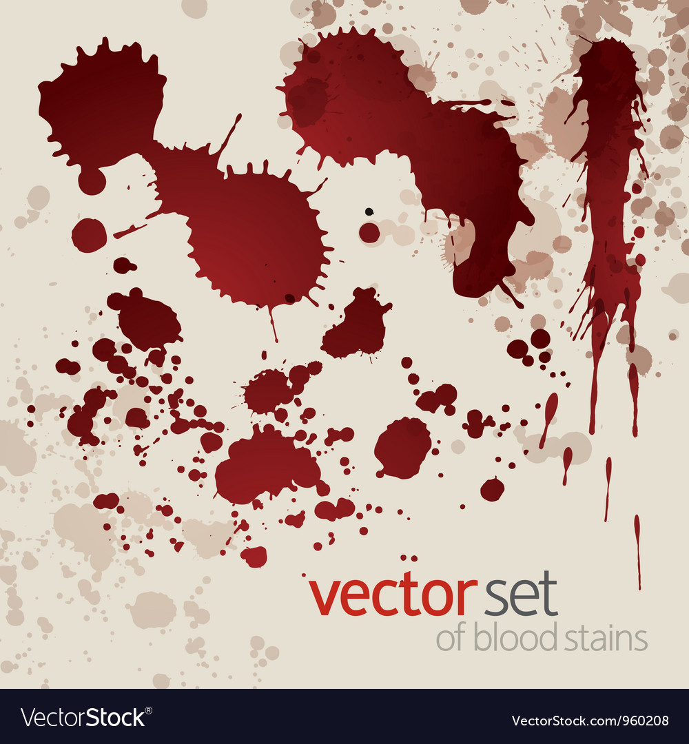 Splattered blood stains set 7 vector | Price: 1 Credit (USD $1)