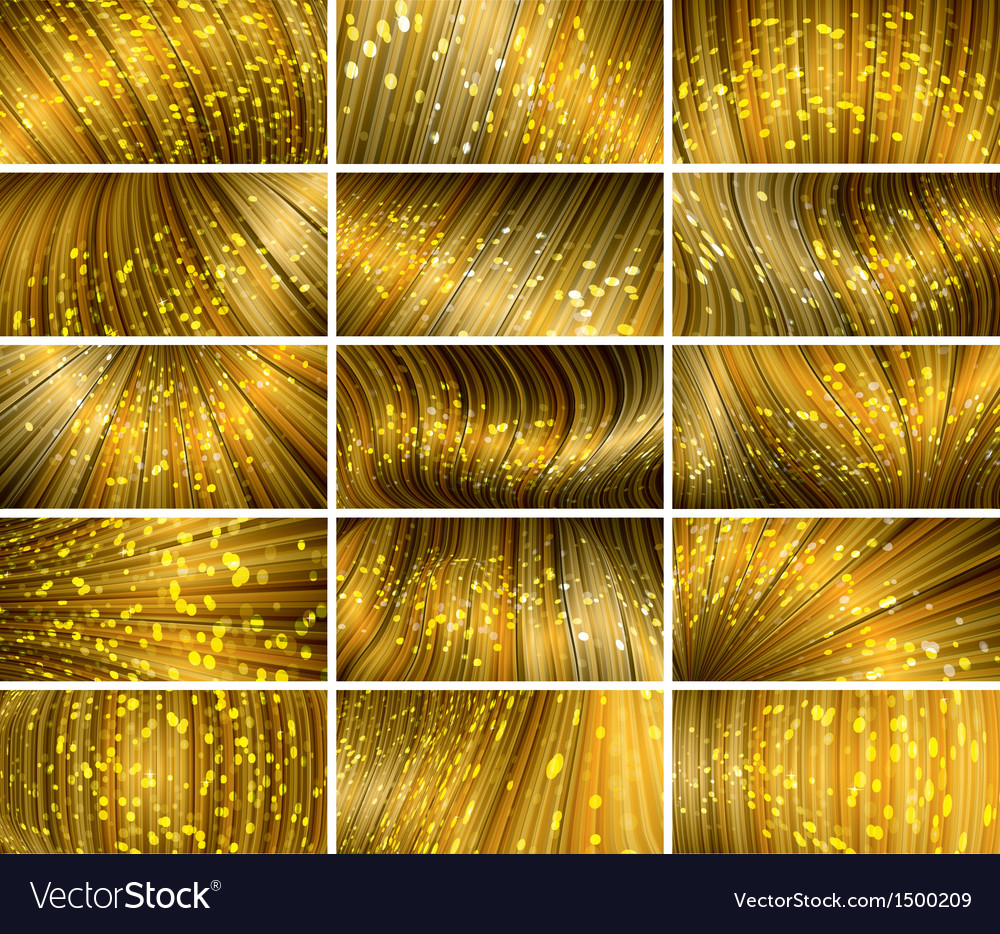 Abstract bokeh background set vector | Price: 1 Credit (USD $1)