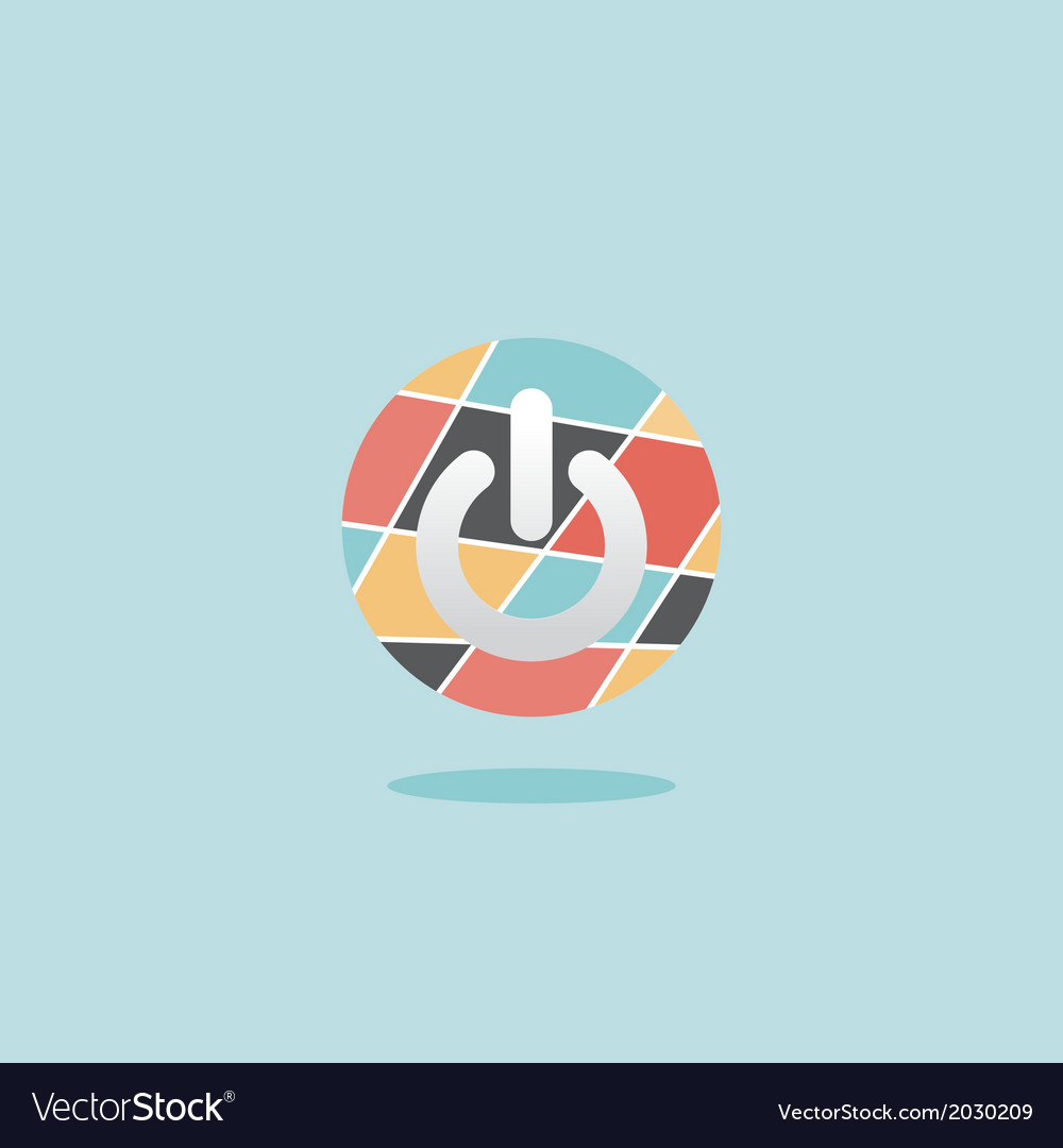 Abstract power button vector | Price: 1 Credit (USD $1)