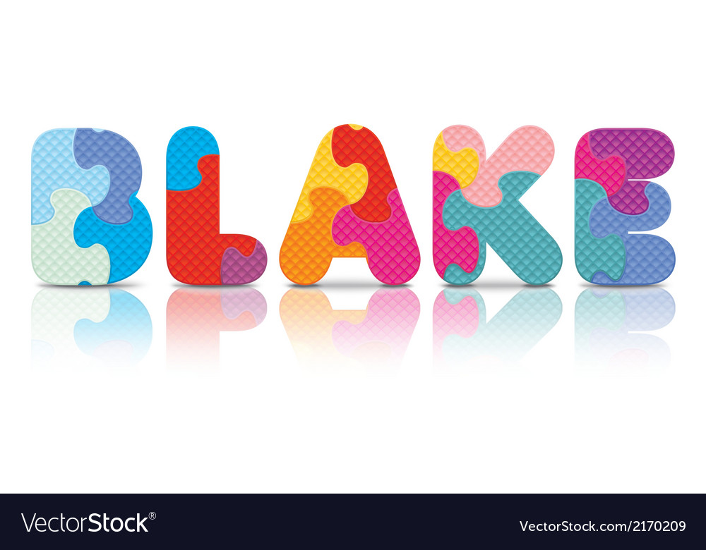 Blake written with alphabet puzzle vector   Price: 1 Credit (USD $1)