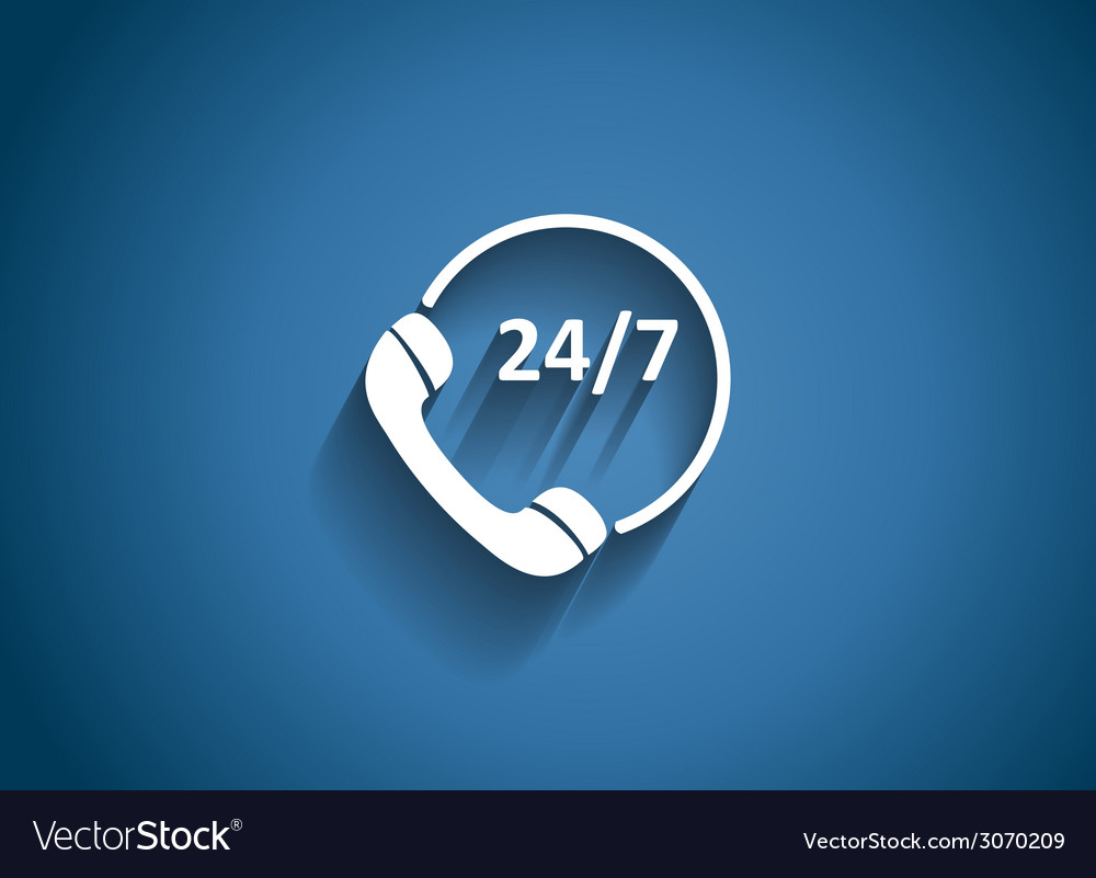 Customer service 247 glossy icon vector | Price: 1 Credit (USD $1)
